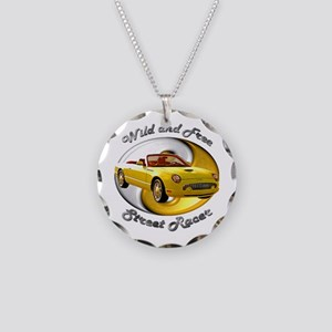 Ford Thunderbird Necklace Circle Charm