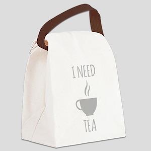 I Need Tea Canvas Lunch Bag