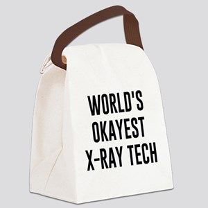 World's Okayest X Ray Tech Canvas Lunch Bag