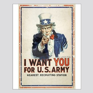 WWI US Army Uncle Sam I Want You Small Poster