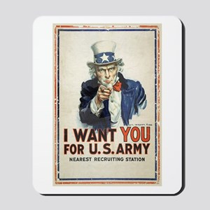 WWI US Army Uncle Sam I Want You Mousepad