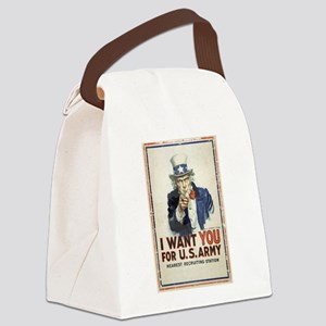 WWI US Army Uncle Sam I Want You Canvas Lunch Bag