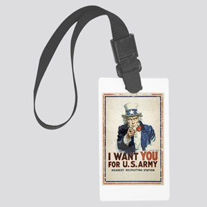 WWI US Army Uncle Sam I Want You Large Luggage Tag