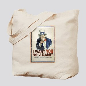 WWI US Army Uncle Sam I Want You Tote Bag