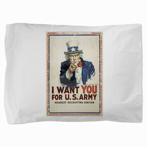 WWI US Army Uncle Sam I Want You Pillow Sham