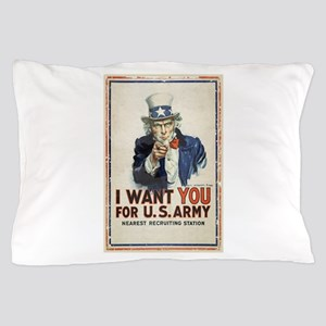 WWI US Army Uncle Sam I Want You Pillow Case