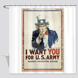 WWI US Army Uncle Sam I Want You Shower Curtain