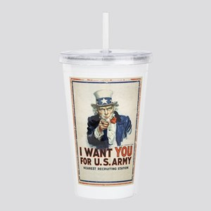 WWI US Army Uncle Sam Acrylic Double-wall Tumbler