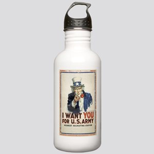 WWI US Army Uncle Sam Stainless Water Bottle 1.0L