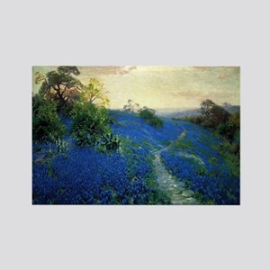 Onderdonk painting, Bluebonnet Fi Rectangle Magnet