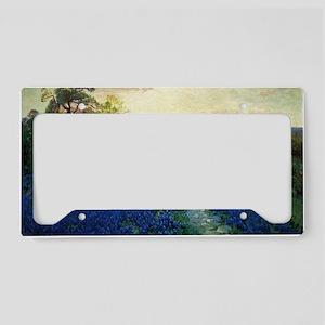 Onderdonk painting, Bluebonne License Plate Holder