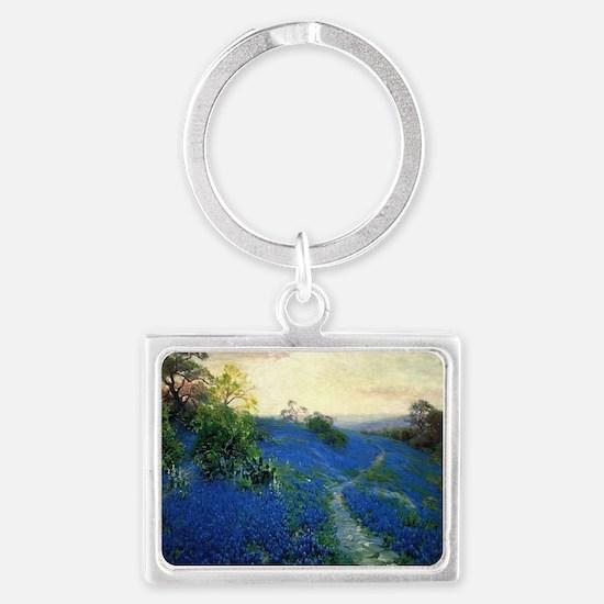 Onderdonk painting, Bluebonnet  Landscape Keychain