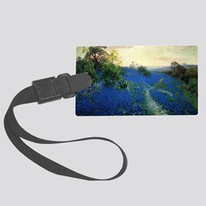 Onderdonk painting, Bluebonnet F Large Luggage Tag