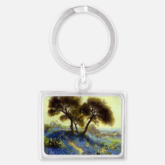 A Spring Morning, painting by J Landscape Keychain