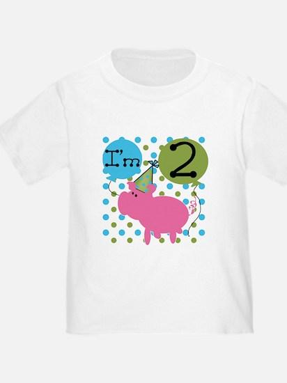 Pig 2nd Birthday T