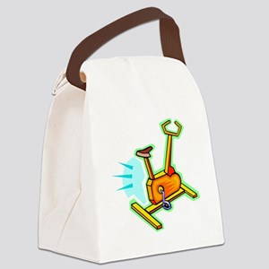 Exercise Bike Canvas Lunch Bag