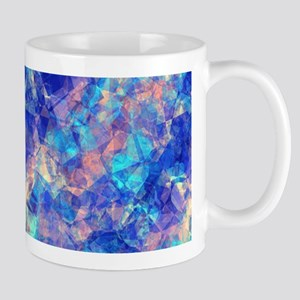 Azure Blue Crumpled Pattern Marble Mugs