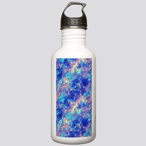 Azure Blue Crumpled Pa Stainless Water Bottle 1.0L