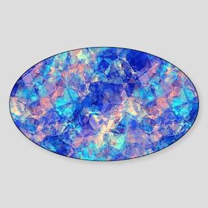 Azure Blue Crumpled Pattern Marble Sticker