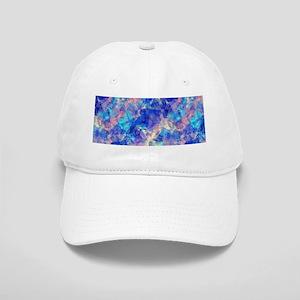 Azure Blue Crumpled Pattern Marble Cap