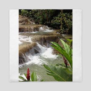 Tropical Falls Queen Duvet