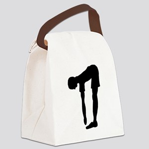 Stretching Silhouette Canvas Lunch Bag