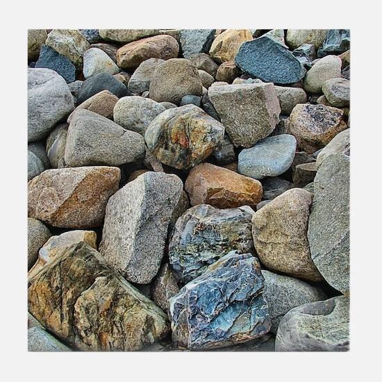 Beach Rocks Tile Coaster
