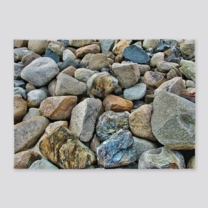 Beach Rocks 5'x7'Area Rug