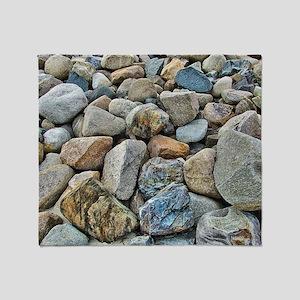 Beach Rocks Throw Blanket