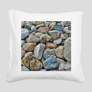 Beach Rocks Square Canvas Pillow
