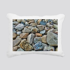 Beach Rocks Rectangular Canvas Pillow