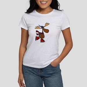 Funny Ice Skating Moos T-Shirt