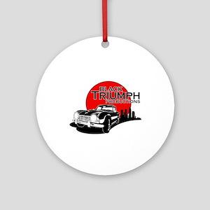 Black Triumph Round Ornament