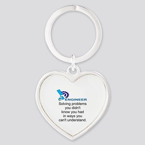 ENGINEERSolving problems you didn't Heart Keychain