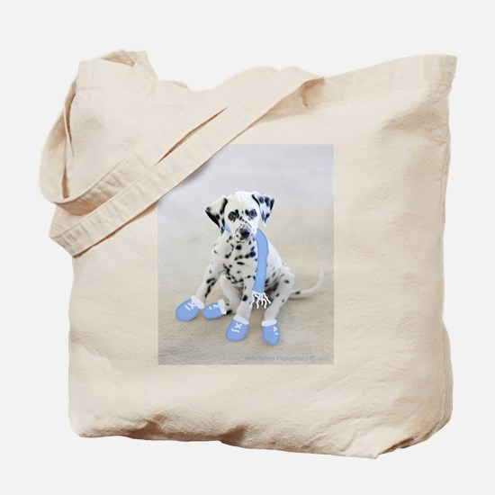 Dalmation Puppy Holiday Tote Bag