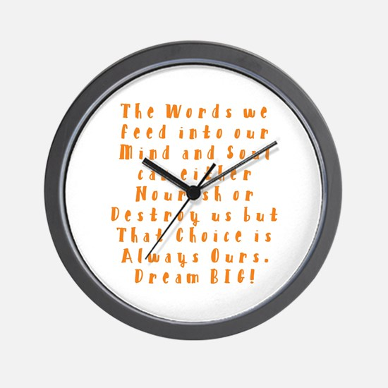 A Positive Meal Wall Clock