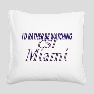 CSI: Miami Square Canvas Pillow