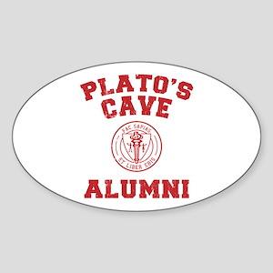 Plato Oval Sticker