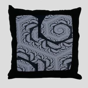 Textured Gray Swirl Pattern Throw Pillow