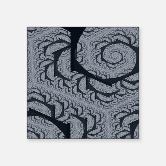 "Textured Gray Swirl Pattern Square Sticker 3"" x 3"""
