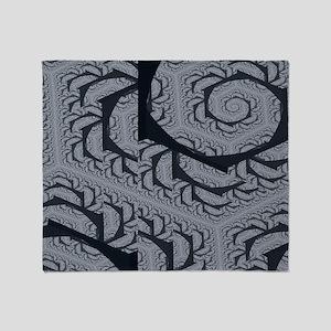 Textured Gray Swirl Pattern Throw Blanket