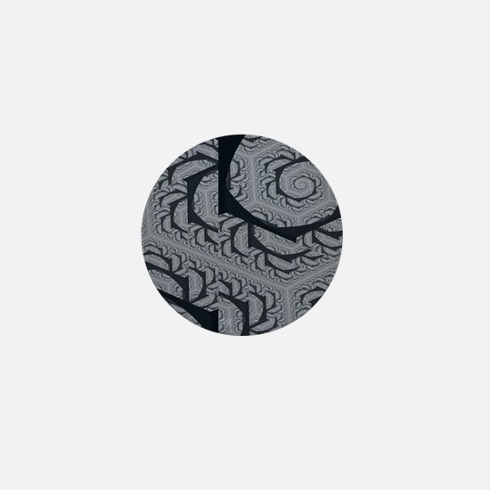 Textured Gray Swirl Pattern Mini Button