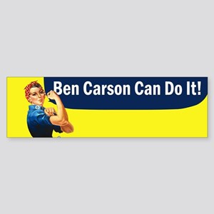 Ben Carson Can Do It Sticker (Bumper)