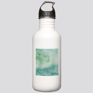Pretty Aqua Blue Green Stainless Water Bottle 1.0L