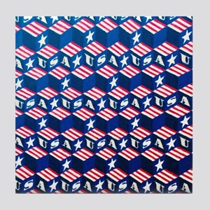 USA Tumbling Block Tile Coaster