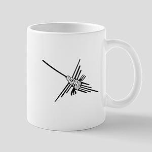 Nazca Lines Hummingbird Typography Mugs