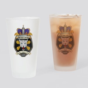 HMS Snow Leopard Crest Drinking Glass