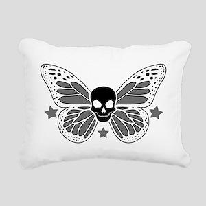 Butterfly Skull Rectangular Canvas Pillow