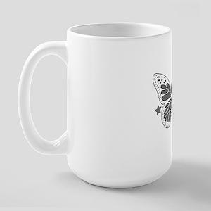 Butterfly Skull Large Mug
