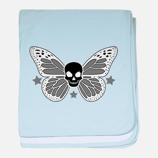 Butterfly Skull baby blanket